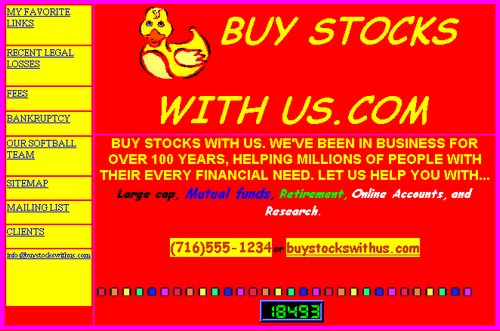 Bạn có đủ can đảm để mua chứng khoán từ một trang web như thế này?