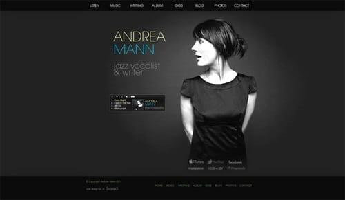 Người xem rất tự nhiên hướng ánh mắt vào chữ Andrea Mann, vì màu sắc nổi bật duy nhất và hình ảnh cô gái đang hướng mắt nhìn vào dòng chữ này.
