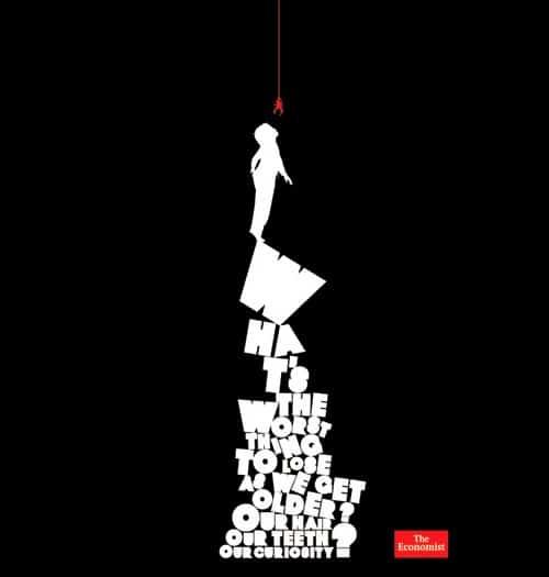 Sắp xếp chủ động trong tấm poster khiến người đọc sẽ nhìn từ trên xuống dưới.